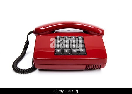 Classic telephone from the eighties - Stock Photo