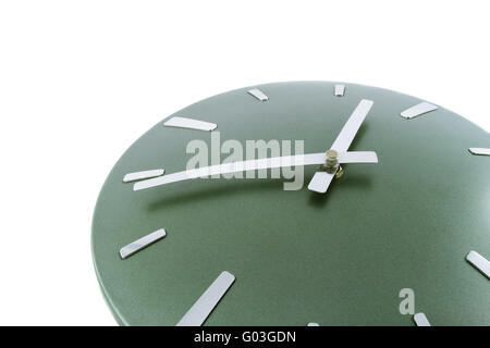 Modern clock isolated over white. Time is 14.53 a.m. Fragment - Stock Photo