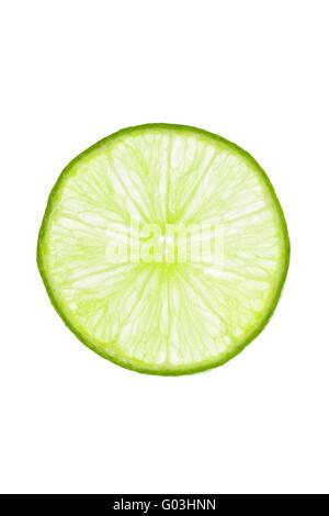 Fresh slice of lime - Stock Photo