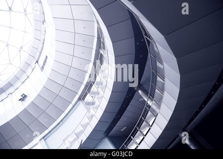 Metal details of an interior of modern office buil - Stock Photo