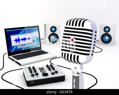 Awe Inspiring Home Recording Studio Equipment Stock Photo Royalty Free Image Largest Home Design Picture Inspirations Pitcheantrous