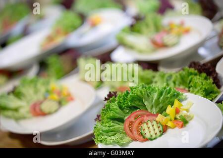 Fresh vegetable salad - side dishes. - Stock Photo