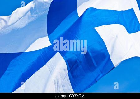 Finnish flag - Stock Photo