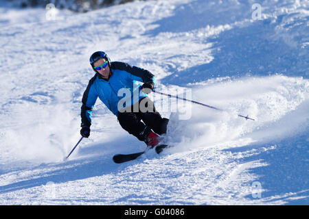 carving skier - Stock Photo