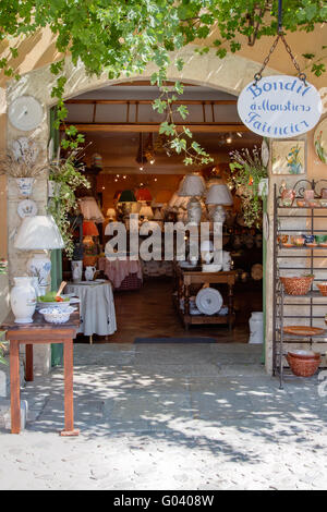 faience shop - Stock Photo