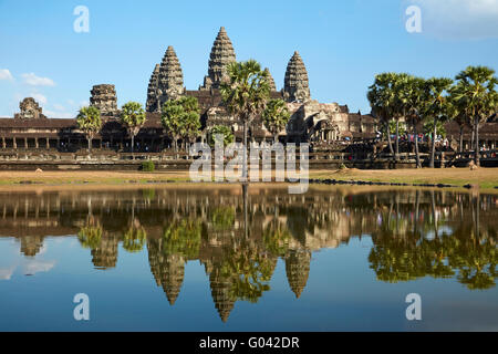 Angkor Wat temple complex (12th century), Angkor World Heritage Site, Siem Reap, Cambodia - Stock Photo