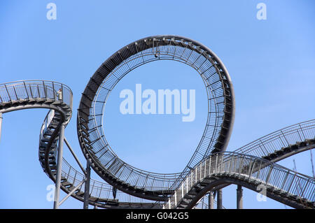The landmark tiger and turtle in Duisburg, Germany Stock Photo