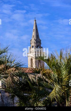 Clocher Eglise St Genest Martigues Provence 13 France - Stock Photo