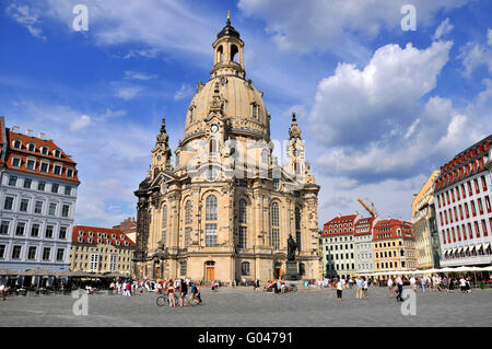 Dresden Frauenkirche, Church of Our Lady, Neumarkt, Dresden, Saxony, Germany / Dresdner Frauenkirche - Stock Photo