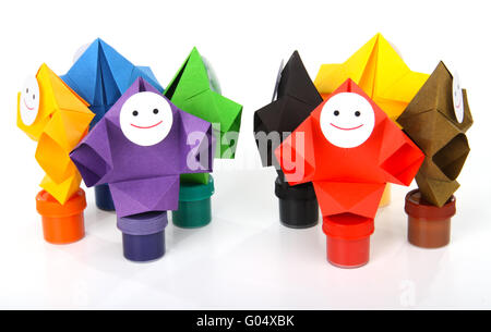 Conceptual image of painting and rainbow colors - Stock Photo