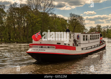 The African Queen On The River Thames Berkshire UK - Stock Photo
