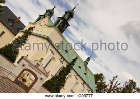 View on Church in Lesniow, Poland - Silesia. - Stock Photo