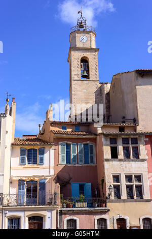 église et façade Miroir aux  Oiseaux Martigues Bouche de Rhone Provence 13 France - Stock Photo