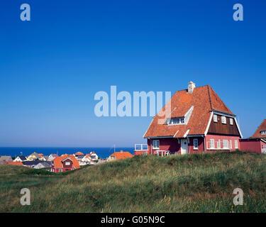 Holiday house in Loenstrup,  northern Jutland, Denmark, Scandinavia, Europe - Stock Photo