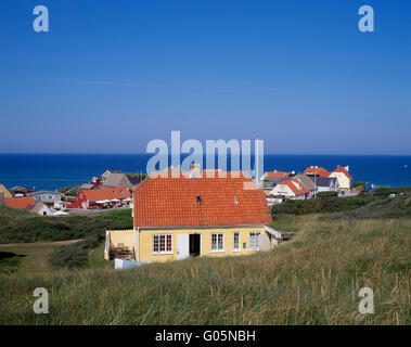 View across Loenstrup,  northern Jutland, Denmark, Scandinavia, Europe - Stock Photo