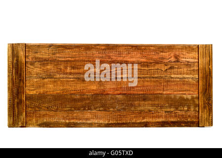 some tongued rustic wooden planks on a white background - Stock Photo