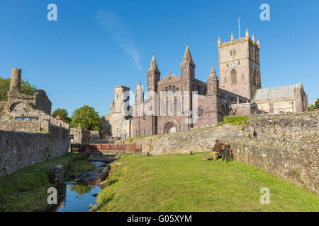 St Davids Cathedral - Pembrokeshire - Stock Photo