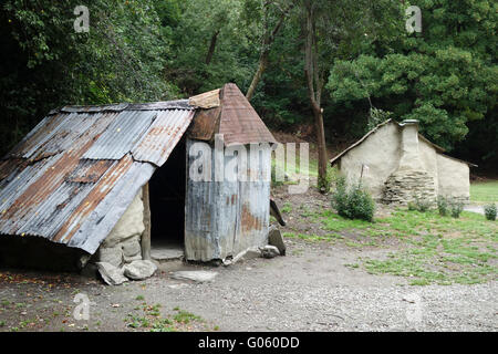 The Chinese Village at Arrowtown, Nr Queenstown, South Island, New Zealand - Stock Photo