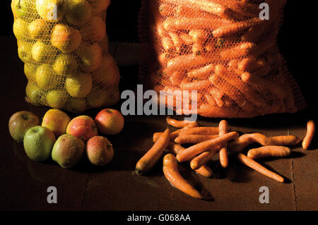apples and carrots - Stock Photo