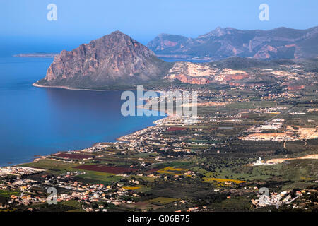Monte Cofano, Tarpani, Erice, Sicily, Italy - Stock Photo