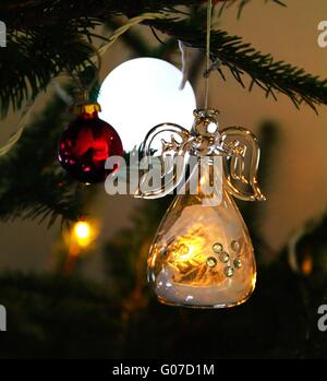 Christmas Angel In Tree   Stock Photo