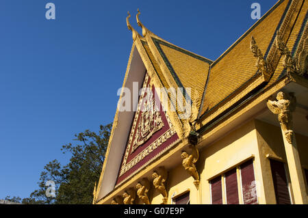 roof construction at the Throne Hall, Royal Palace - Stock Photo
