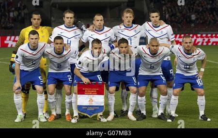 Hungary vs. Netherlands (0:4) football game - Stock Photo