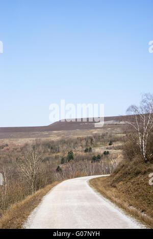 Way on the mining dump Hoheward near Herten , ruhr - Stock Photo