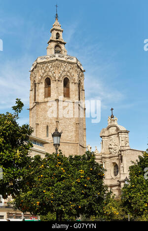 El Micalet Tower. Cathedral. valencia. Spain. - Stock Photo