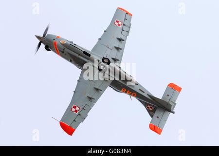 Polish Air Force PZL-Okecie PZL-130TC-2 Turbo Orlik aerobatic team. - Stock Photo