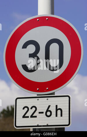 in the city at night 30 mph - Stock Photo