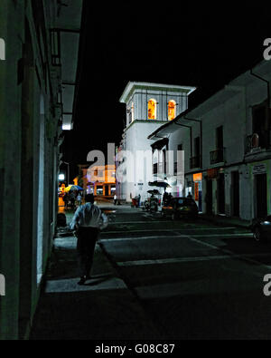 Clock tower, Popayán, Colombia - Stock Photo