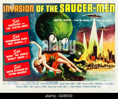 Invasion of the Saucer-Men (1957) directed by Edward L. Cahn and starring Steven Terrell, Gloria Castillo and Frank - Stock Photo