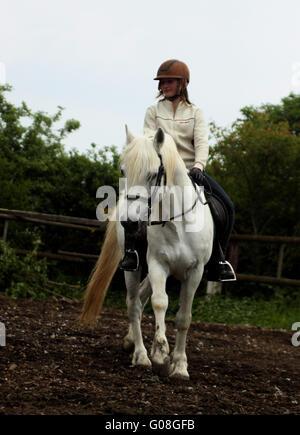 riding girl - Stock Photo