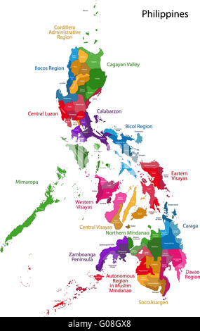 Philippines map - Stock Photo
