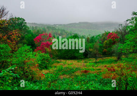 mountain landscapes in virginia state around roanoke - Stock Photo