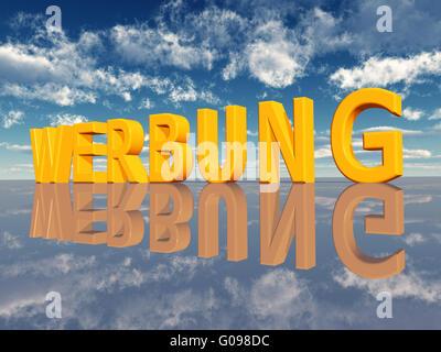 The german word Werbung - Stock Photo