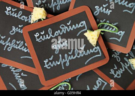 Invitations to the first day of school - Stock Photo