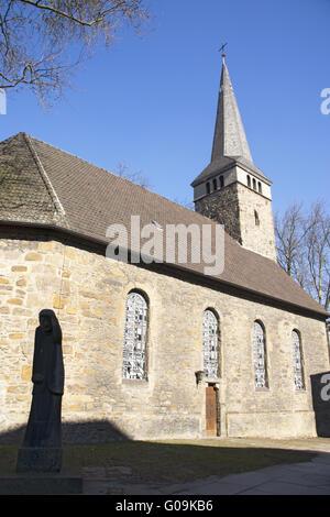 Paulus church in the inner city of Bochum, Germany - Stock Photo