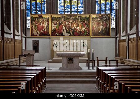 Interior view of the Provost Church, Dortmund. - Stock Photo