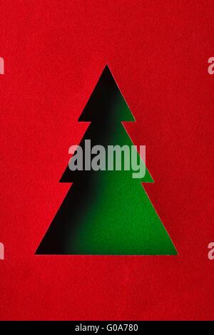 ... The Original Christmas Tree Made Of Paper Design   Stock Photo