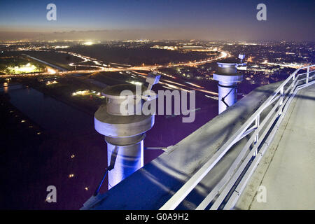 View from the Gasometer on Oberhausen, Germany - Stock Photo