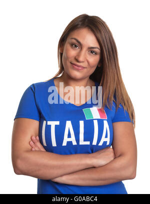 Italian girl with crossed arms - Stock Photo