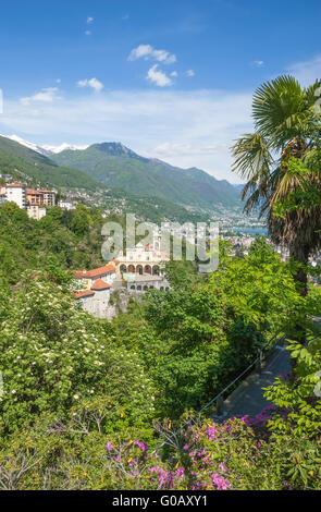 Madonna del Sasso,Locarno,Ticino Canton - Stock Photo