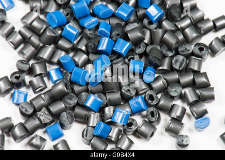 blue and black polymer resin - Stock Photo