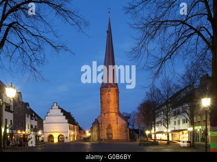 Old Town Hall and St. Victor Church, Schwerte - Stock Photo