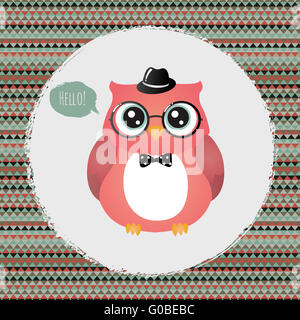 An Illustration Of A Cute Owl In Glasses And Graduate Or