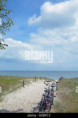 Footpath to Beach,Ruegen Island,Germany - Stock Photo
