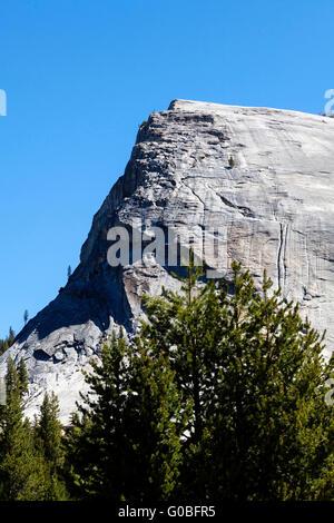 Lembert Dome In Yosemite California Blue Sky - Stock Photo
