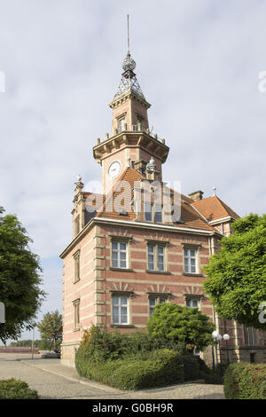 Old port authority in the canal port of Dortmund, - Stock Photo